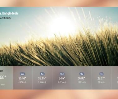 AngularJS weather Widget