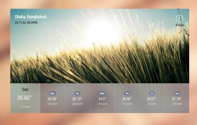 AngularJS weather Widget